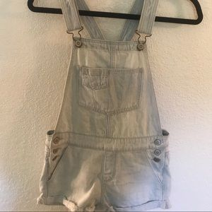 Hollister Lightwash Overalls